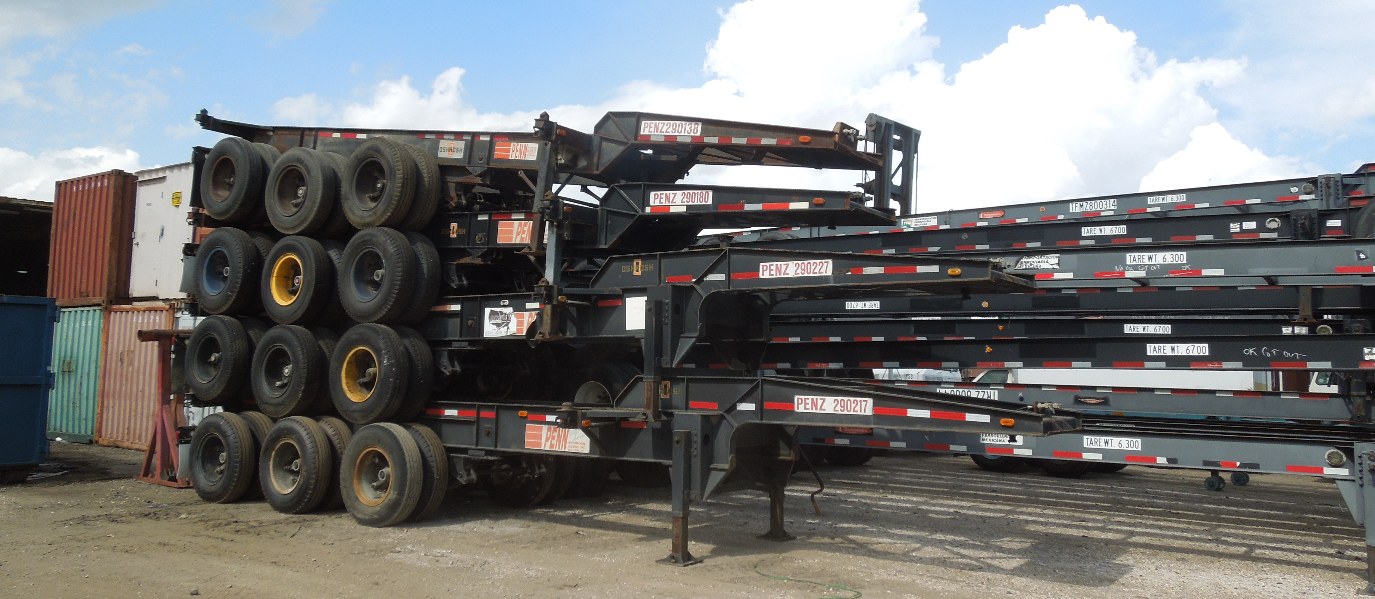 Preowned Intermodal & Dropframe Chassis for Sale