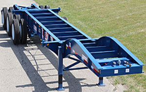 Triaxle Drop Frame Chassis with Extendable Slider